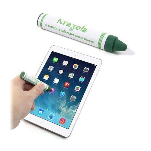 Värikynän Näköinen Kosketusnäyttökynä Älypuhelimille Ja Tableteille Vihreä