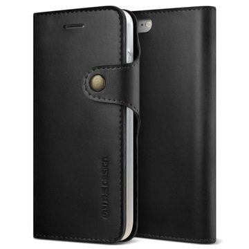 VRS Design Native Diary lompakkokotelo iPhone 7 Musta