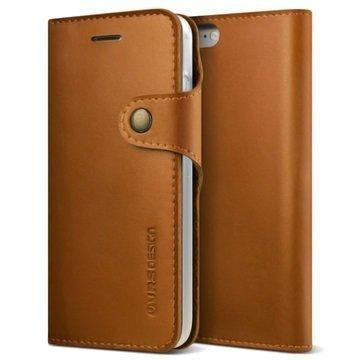 VRS Design Native Diary lompakkokotelo iPhone 7 Ruskea