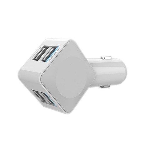 Valkoinen 3.5a 4-Porttinen Usb Autolaturi