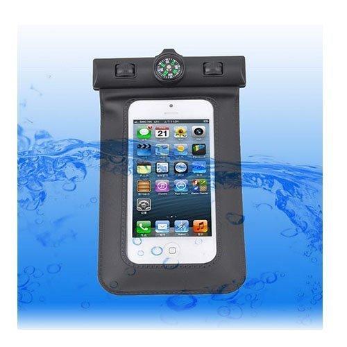 Vedenpitävä Smartphone Kompassi & Käsivarsikotelo Musta