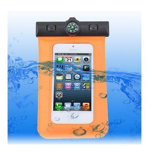 Vedenpitävä Smartphone Kompassi & Käsivarsikotelo Oranssi
