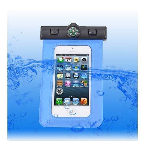 Vedenpitävä Smartphone Kompassi & Käsivarsikotelo Sininen