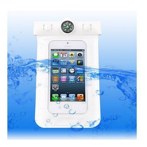 Vedenpitävä Smartphone Kompassi & Käsivarsikotelo Valkoinen