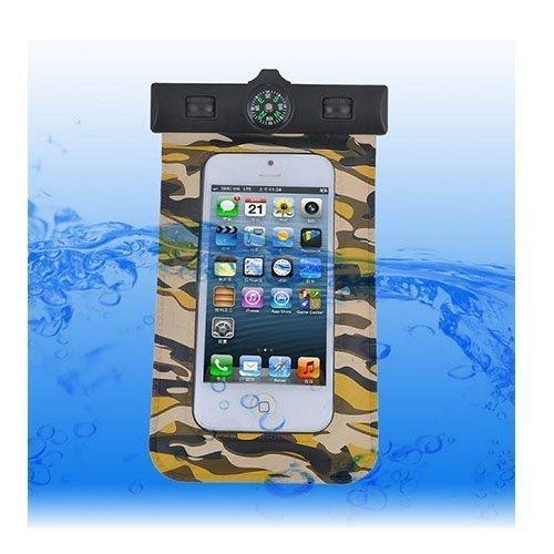 Vedenpitävä Smartphone Kompassi & Käsivarsinauha Ruskea Maastokuvio