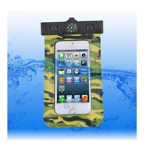 Vedenpitävä Smartphone Kompassi & Käsivarsinauha Vihreä Maastokuvio