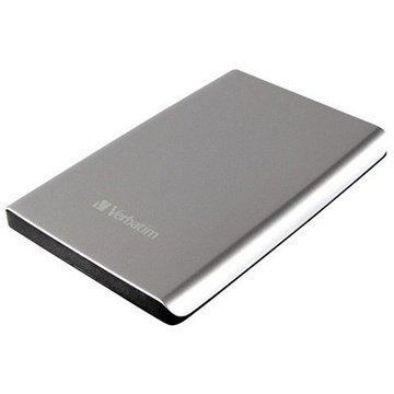 Verbatim Store 'n' Go USB 3.0 Ultra Slim External Hard Drive Silver 500GB