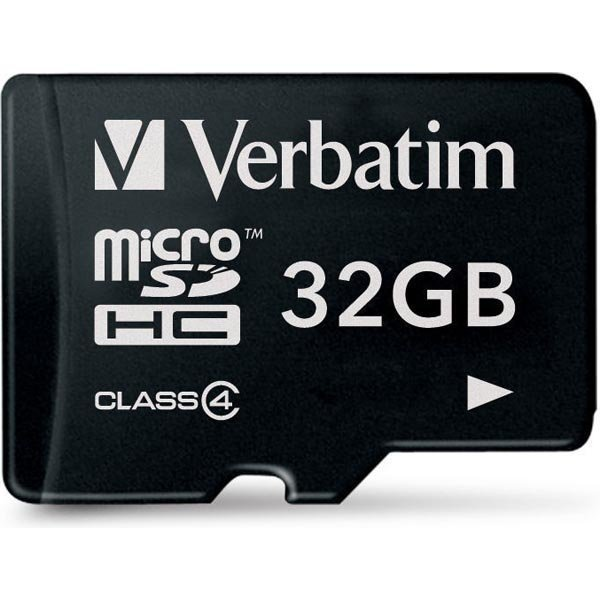 Verbatim muistikortti microSDHC 32GB micro Secure Class 4