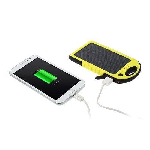 Vesitiivis Aurinkoenergia Varavirtalähde 5000mah Älypuhelimille Keltainen