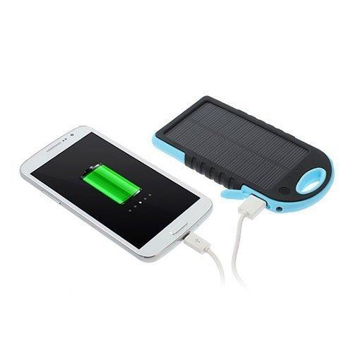 Vesitiivis Aurinkoenergia Varavirtalähde 5000mah Älypuhelimille Sininen