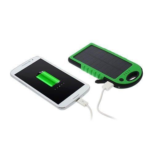 Vesitiivis Aurinkoenergia Varavirtalähde 5000mah Älypuhelimille Vihreä