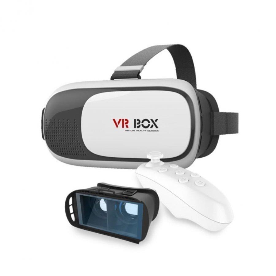 Virtuaalitodellisuus Video 3d Lasit + Bluetooth Ohjain + Näytönsuoja