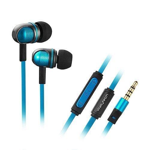 Wallytech W801 Sininen Metalliset Kuulokkeet Mikrofonilla