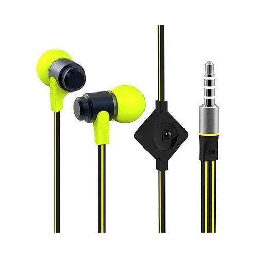 Wallytech Whf-116 Keltainen / Black Nappikuulokkeet Mikrofonilla