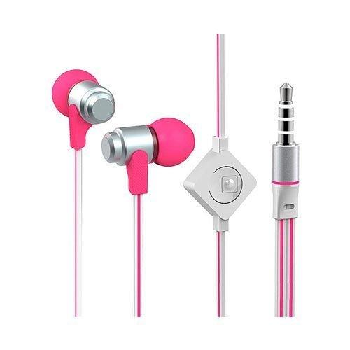 Wallytech Whf-116 Pinkki / Silver Nappikuulokkeet Mikrofonilla