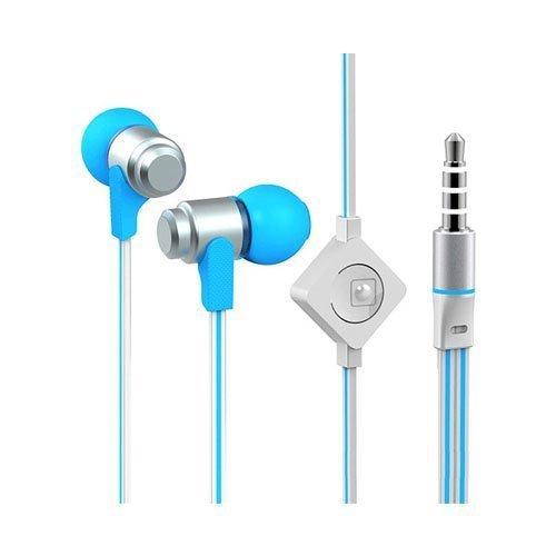 Wallytech Whf-116 Sininen / Silver Nappikuulokkeet Mikrofonilla