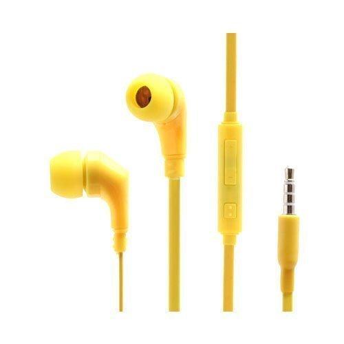 Wallytech Whf-119 Keltainen Nappikuulokkeet Mikrofonilla