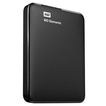 Western Digital WDBUZG0010BBK-EESN WD Elements Ulkoinen Kiintolevy 1TB Musta