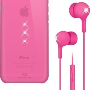 White Diamonds Crystal Earphones & Case iPhone 6 Pink