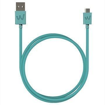 Wiko USB / MicroUSB Kaapeli 1m Turkoosi