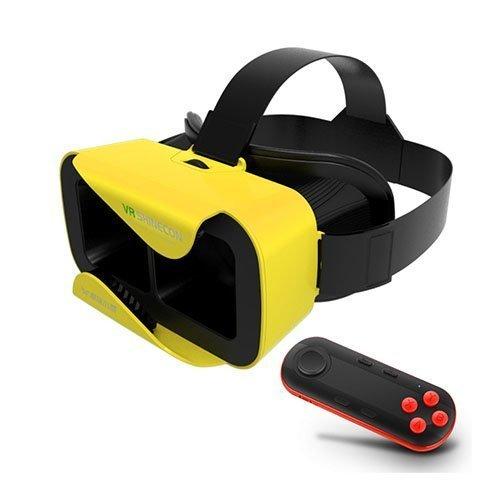 Xiaocang 3d Vr Lasit Kypärällä + Musta Bluetooth Kaukosäädin Keltainen