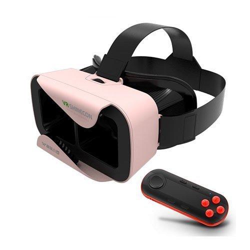 Xiaocang 3d Vr Lasit Kypärällä + Musta Bluetooth Kaukosäädin Pinkki