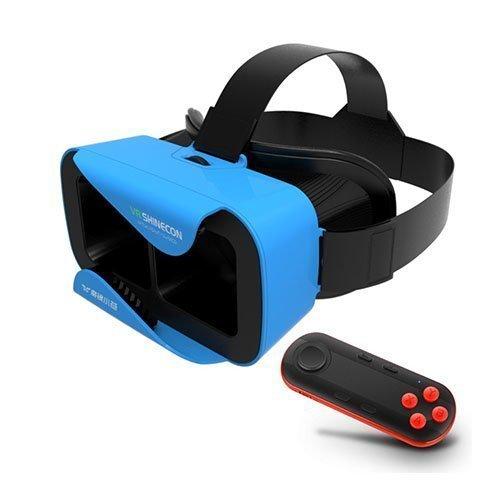 Xiaocang 3d Vr Lasit Kypärällä + Musta Bluetooth Kaukosäädin Sininen