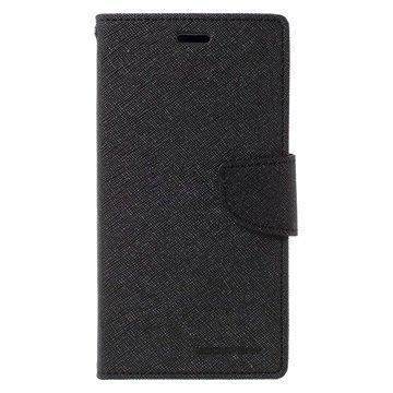 Xiaomi Redmi Note 3 Mercury Goospery Fancy Diary Wallet Case Black