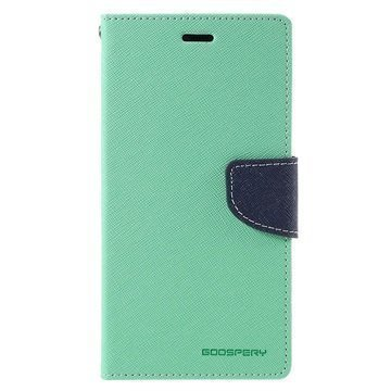 Xiaomi Redmi Note 3 Mercury Goospery Fancy Diary Wallet Case Cyan