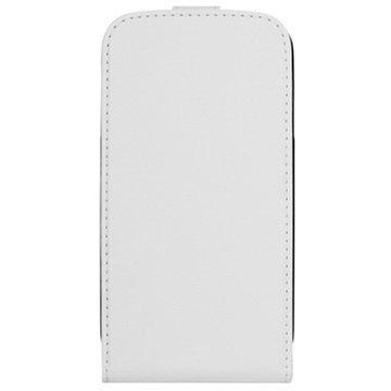 Xqisit Pystysuuntainen Läppäkotelo Samsung Galaxy S 4 I9500 I9505 I9502 Valkoinen