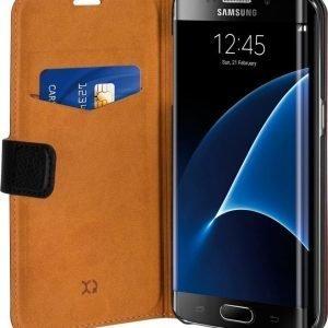 Xqisit Slim Wallet Selection Samsung Galaxy S7 Edge Black