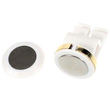 Yleismallinen Miniatyyri Magneettinen Autoteline Ilmastointiaukkoon Valkoinen