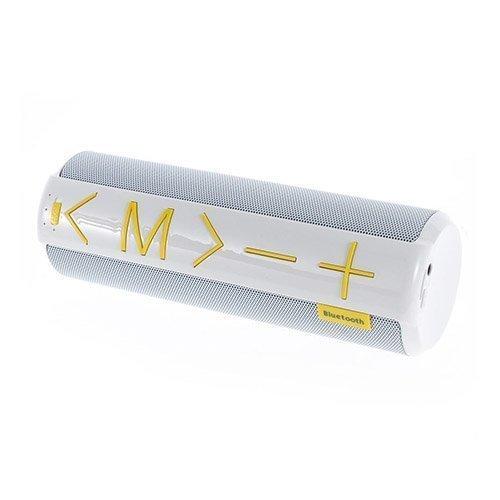 Ym-C06 Bluetooth Kaiutin Mikrofonilla Ja Aux-Sisääntulolla Valkoinen