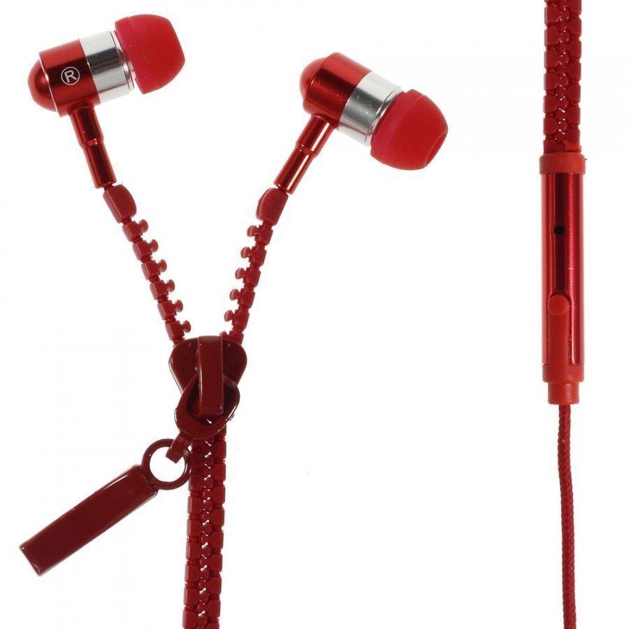 Zipper Kuulokkeet Punainen Mikrofonilla
