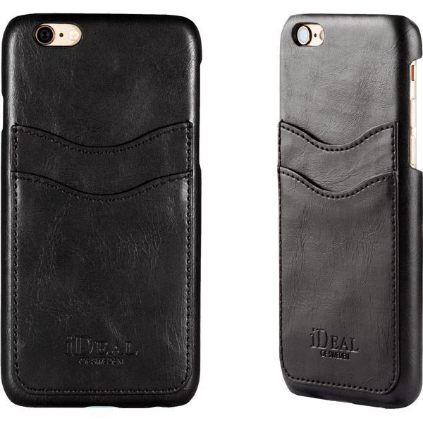 iDeal Dual Card Case iPhone 6 Musta