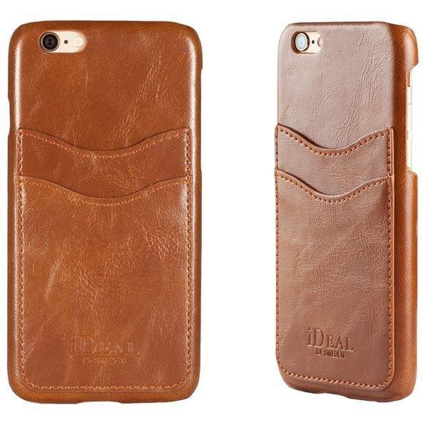 iDeal Dual Card Case iPhone 6 Ruskea
