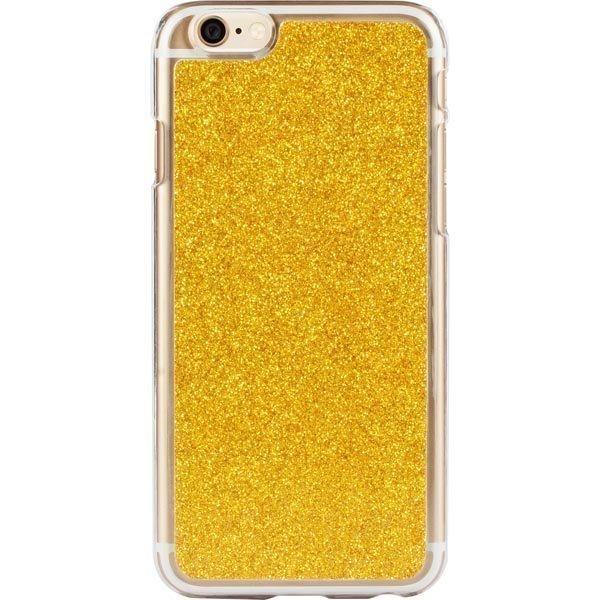 iDeal HardCover+ Glitter Gold kimmeltävä iPhone 6 kuori kultaine