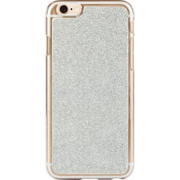 iDeal HardCover+ Glitter Silver kimmeltävä iPhone 6 kuori hopea
