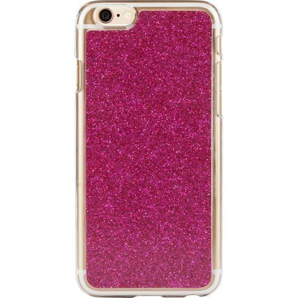 iDeal HardCover+ Glitter Silver kimmeltävä iPhone 6 kuori lila