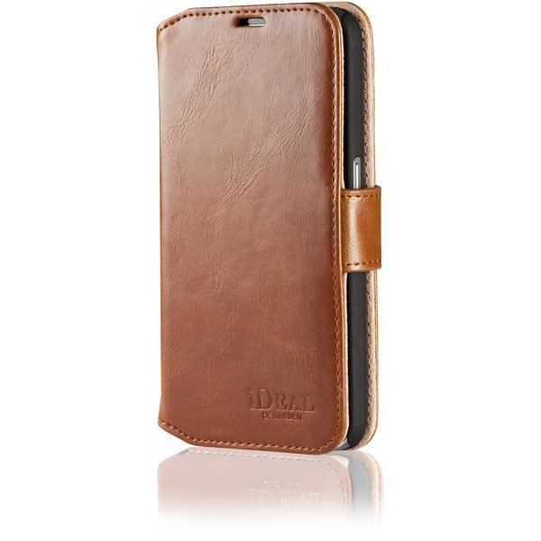 iDeal Premium PU Slim Magnet Wallet Samsung Galaxy S6 kotelo ruskea