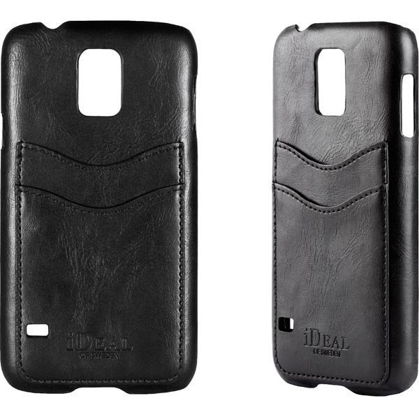 iDeal Samsung S5 Dual Card Case Musta