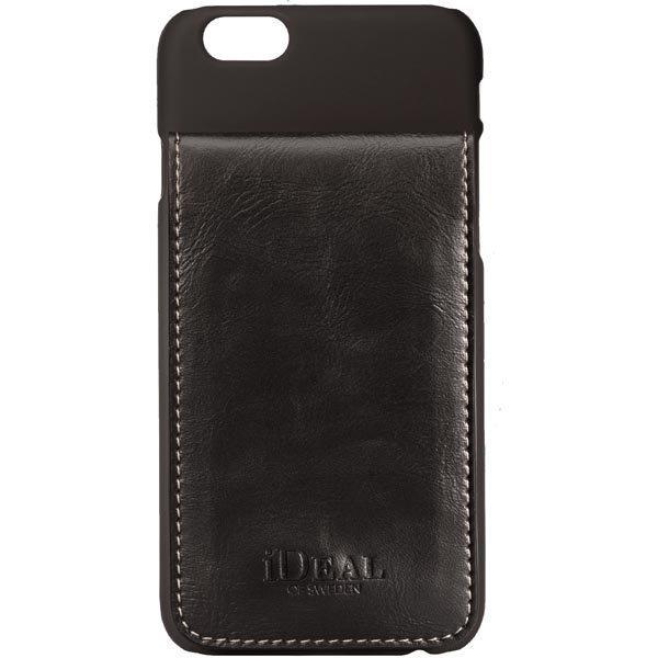 iDeal Smart Case muovikuori iPhone 6 3 korttia kuminen pinta musta