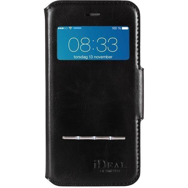 iDeal iPhone 6 Musta Premium PU Swipe Wallet