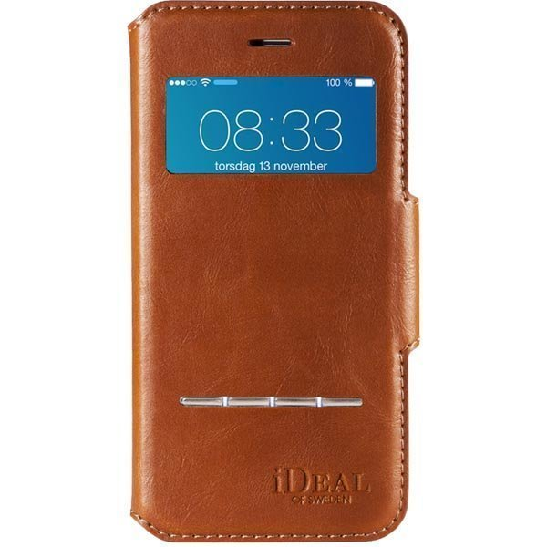 iDeal iPhone 6 Ruskea Premium PU Swipe Wallet