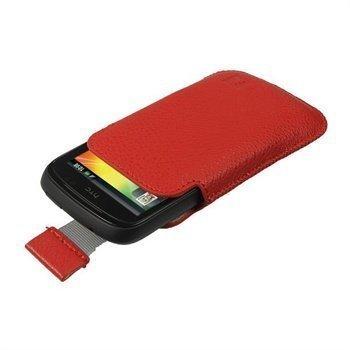 iGadgitz Nahkakotelo HTC Explorer Punainen