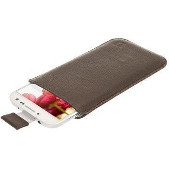 iGadgitz Nahkakotelo Samsung Galaxy S4 I9500 I9502 I9505 Ruskea