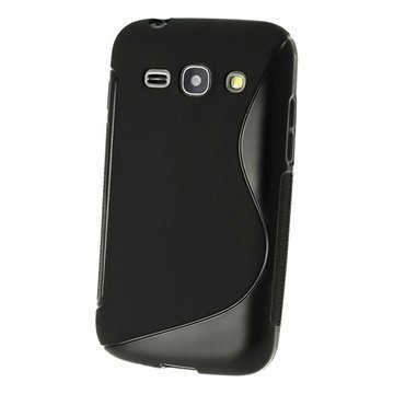 iGadgitz S Line TPU Kotelo Samsung Galaxy Ace 3 S7270 S7275 S7272 Musta
