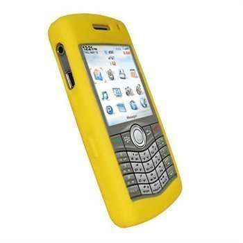 iGadgitz Silicone Case BlackBerry Pearl 8110 8120 8130 Yellow