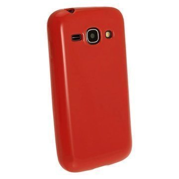 iGadgitz TPU Kotelo Samsung Galaxy Ace 3 S7270 S7275 S7272 Punainen