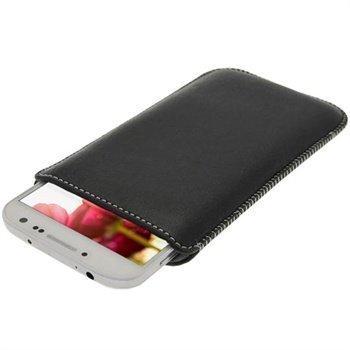 iGadgitz nahkakotelo Samsung Galaxy S4 I9500 I9502 I9505 Musta